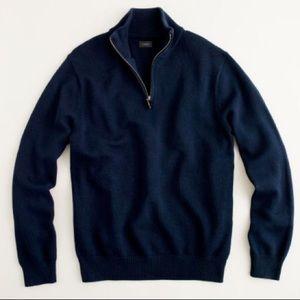 J. Crew Cotton half-zip Sweater
